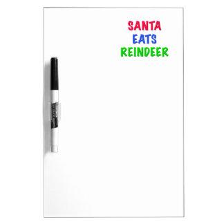 Santa come el reno pizarras blancas