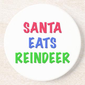 Santa come el reno posavasos personalizados