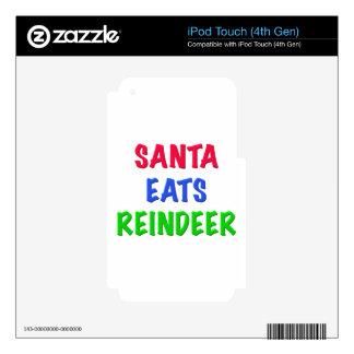 Santa come el reno iPod touch 4G calcomanías
