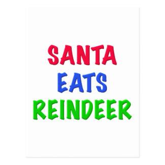 Santa come el reno postales