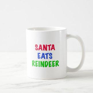 Santa come el reno tazas