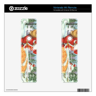 Santa comes to town wii remote decal