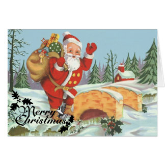 Santa comes to town stationery note card