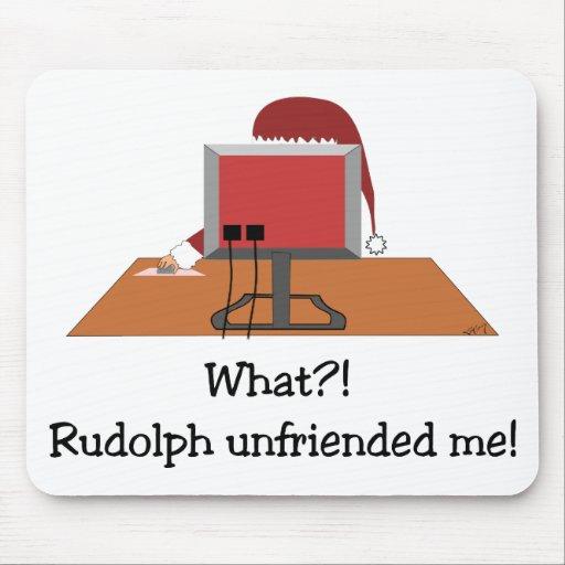 Santa Comic - Rudolph Unfriended Me! Mouse Pads