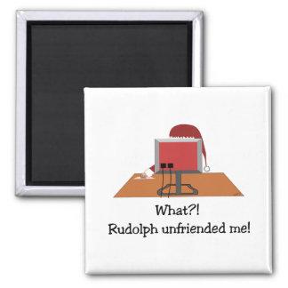 Santa Comic - Unfriended Me! 2 Inch Square Magnet