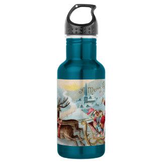 Santa Coming to Town 18oz Water Bottle