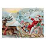 Santa Coming to Town Large Business Cards (Pack Of 100)