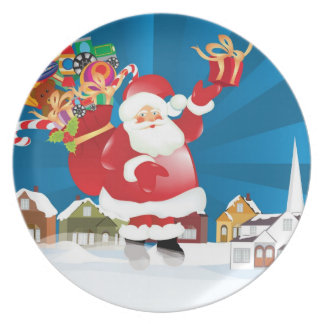 Santa Coming to Town Plate
