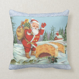 SANTA COMING TO TOWN THROW PILLOW