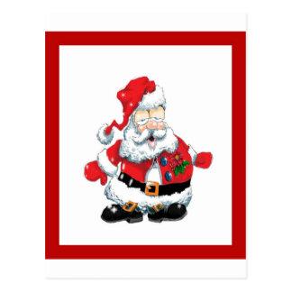 Santa comió a muchas galletas postales
