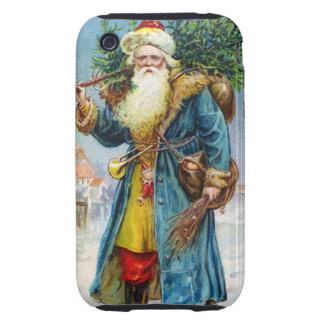 Santa con el árbol de abeto iPhone 3 tough protector