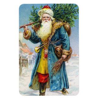 Santa con el árbol de abeto imán flexible
