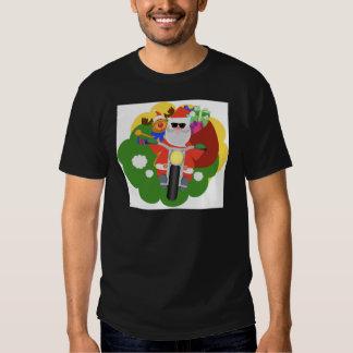 Santa con el bolso de Goodie Playeras