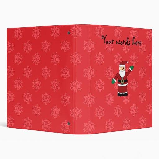 Santa con el modelo rojo de los copos de nieve