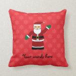 Santa con el modelo rojo de los copos de nieve almohadas