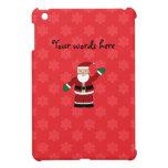 Santa con el modelo rojo de los copos de nieve iPad mini fundas