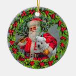 Santa con el ornamento de Westie Ornatos