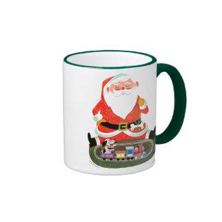 Santa con el tren tazas