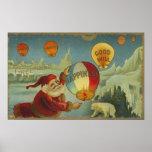 Santa con la felicidad Baloon Poster