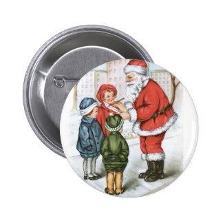 Santa con la lista de objetivos del navidad pins