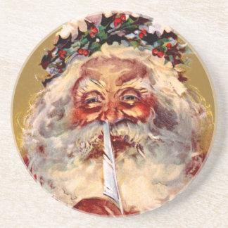 Santa con la pluma posavasos personalizados