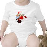 Santa con las alas y el bolso del juguete traje de bebé