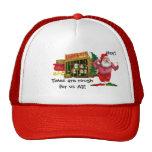 Santa con los duendes para el alquiler gorras