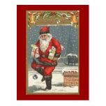 Santa con los presentes
