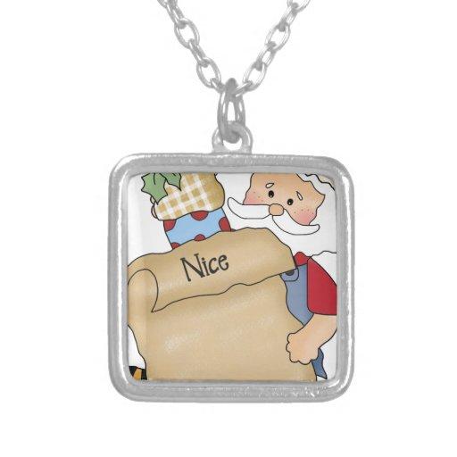 Santa con Niza la lista Pendientes Personalizados