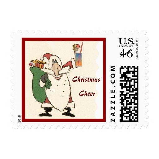 Santa con un sello de la alegría del cóctel