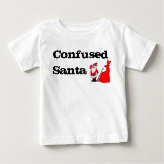 Santa confuso playera de bebé
