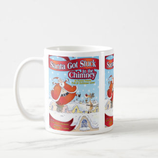 Santa consiguió pegado en la taza del día de fiest