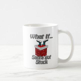 Santa consiguió pegado tazas de café