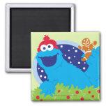 Santa Cookie Monster Refrigerator Magnets