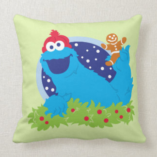Santa Cookie Monster Throw Pillow