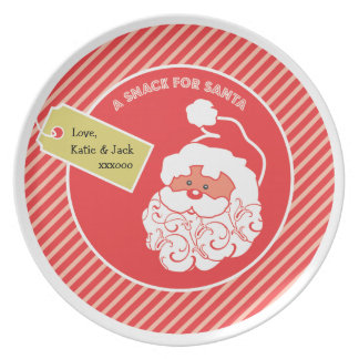 Santa Cookie Plate  |  Holiday Plates