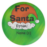 Santa Cookie Plate to Personalize Kid's Name