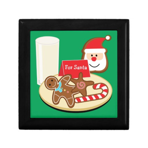 Santa Cookies Box Keepsake Box