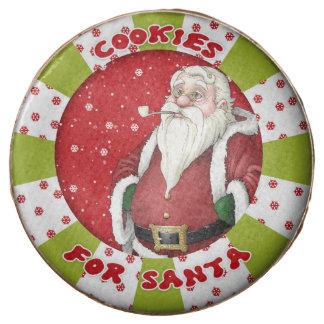 Santa Cookies Milk Chocolate Dipped Oreo Cookies,