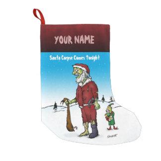 Santa Corpse Funny Personalized Zombie Cartoon Small Christmas Stocking