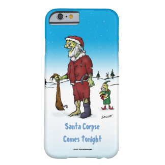 Santa Corpse Funny Zombie Cartoon Barely There iPhone 6 Case