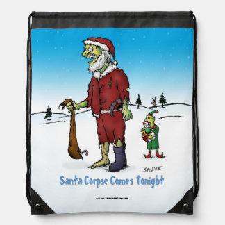 Santa Corpse Funny Zombie Cartoon Drawstring Backpack