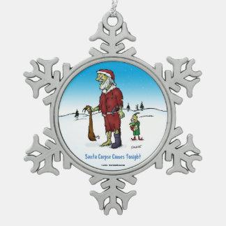 Santa Corpse Funny Zombie Cartoon Ornament