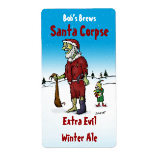 Santa Corpse Zombie Homebrew Beer Label