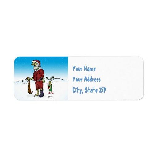 Santa Corpse Zombie Santa Return Address Labels