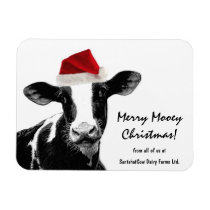 Santa Cow -Holstein Dairy Christmas Cow Magnet