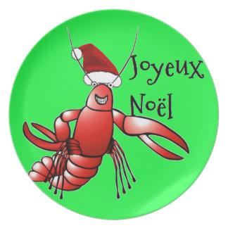 Santa Craws (Crawdad) - Joyeux Noël Dinner Plates