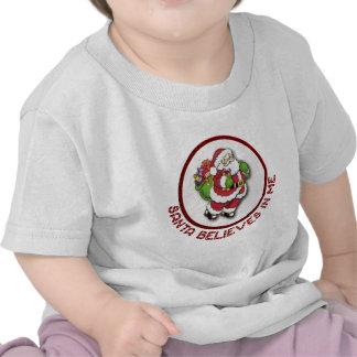 Santa cree en mí la ropa del bebé camiseta