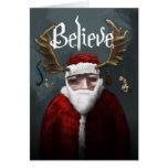 """Santa """"cree """" tarjeta"""