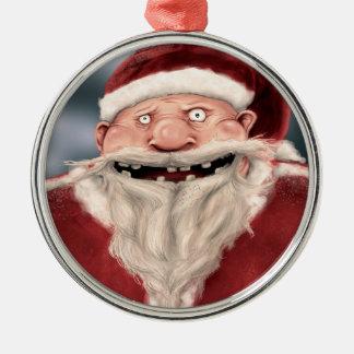 Santa Creeper Metal Ornament